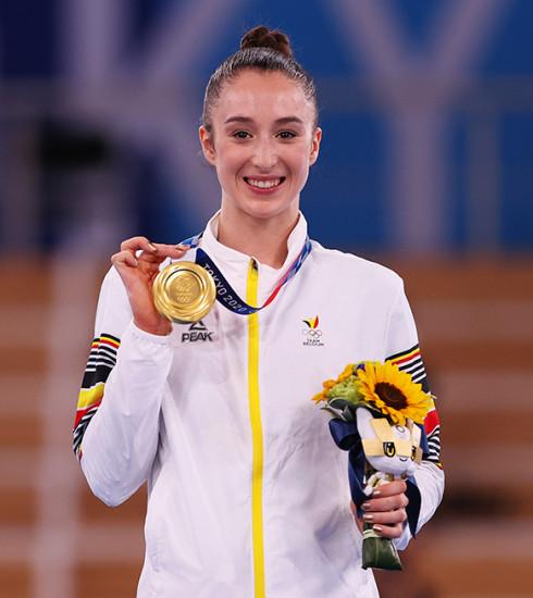 Qui est Nina Derwael, première médaillée d'or aux Jeux Olympiques de Tokyo 2020 ?