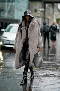 femme manteau fourrure