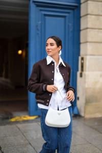 femme veste marron