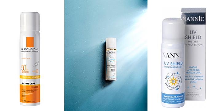 Even sprayen, goed beschermd: de UV-gezichtsspray