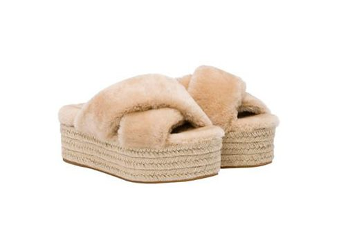 Crush of the Day: fluffy slippers van Miu Miu