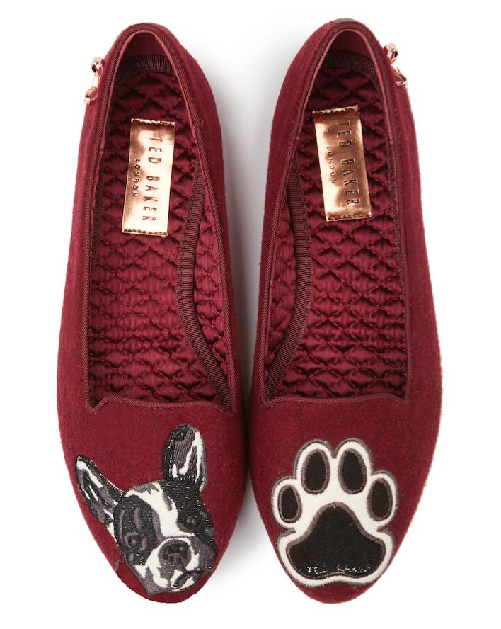 house slippers dog Ted Baker