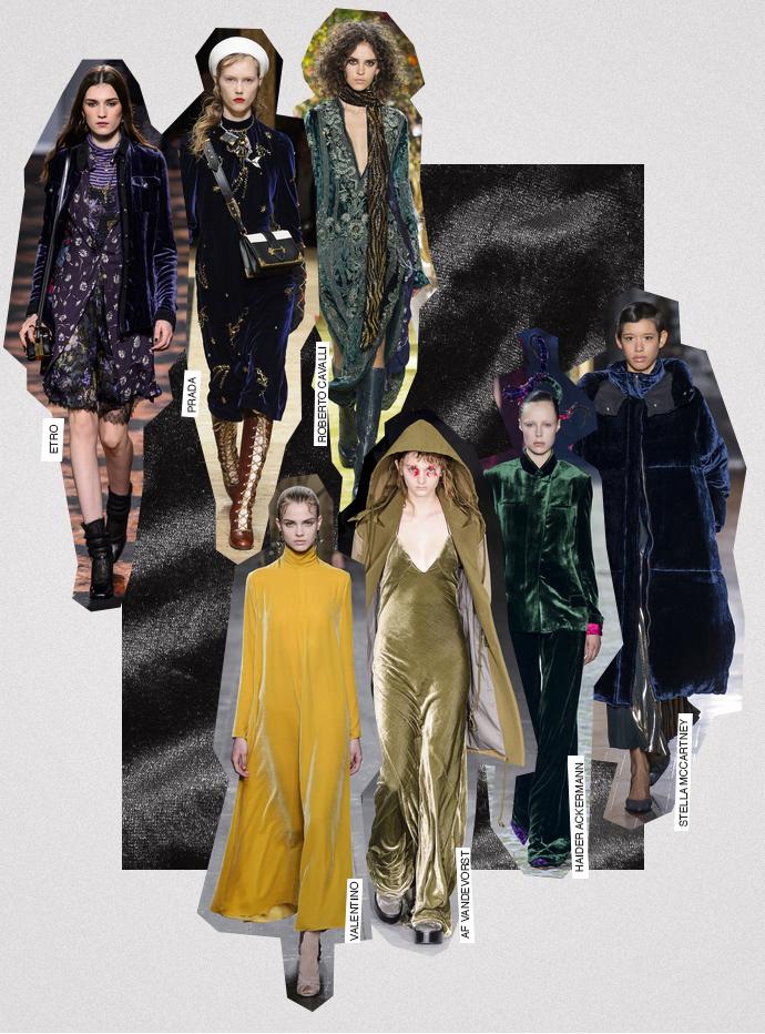Trends voor aanstaande herfst/winter 2016-2017: Fluweel, velours, velvet