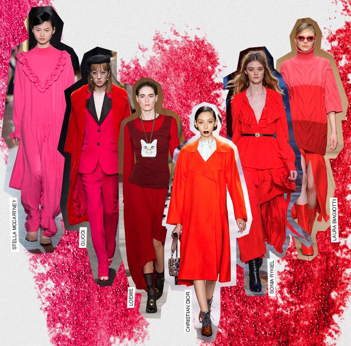 Trends voor aanstaande herfst/winter 2016-2017: Rood en roze
