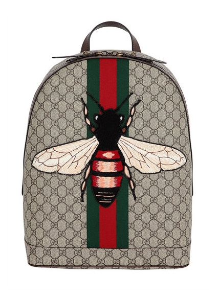 Trendshoppen: Patches en badges // Rugzak Gucci