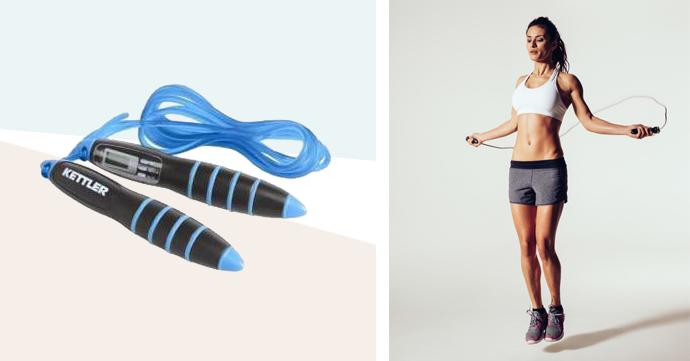 Thuis sporten met accessoires: Springtouw