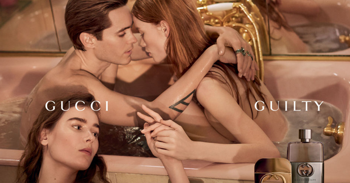 Jared Leto's ménage à trois voor Gucci Guilty
