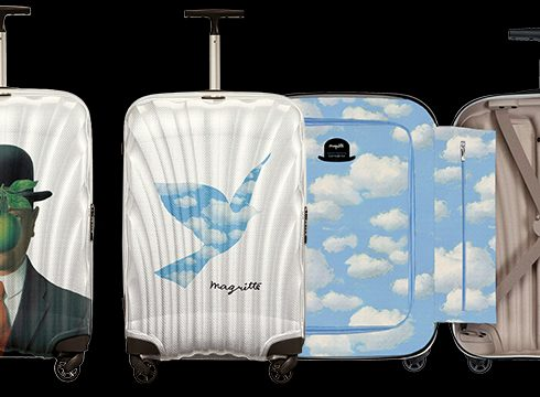 Crush of the day: René Magritte I Cosmolite Limited Edition van Samsonite