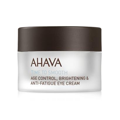 Time to Smooth Age Control, Brightening & Anti-Fatigue Eye Cream van Ahava, € 49, bij de erkende instituten of de apotheek