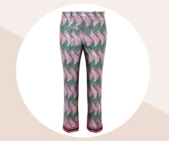 Crush of the day: de tropische jacquard broek van zijdemix van Gucci