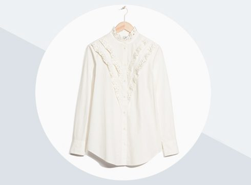 Crush of the day: broderie anglaise blouse van & Other Stories