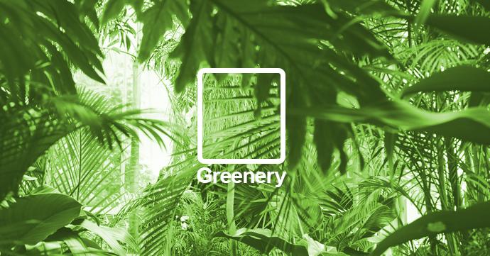 7 x Greenery, dé kleur van 2017 volgens Pantone