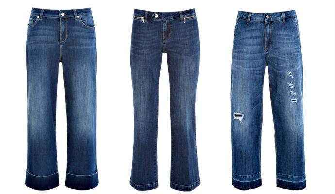 Jeans met uitlopende pijpen