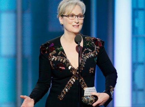 Meryl Streep is niet mild voor Trump in vurige speech