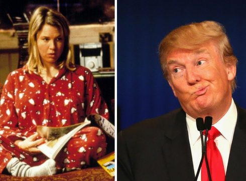 "Satire: Bridget Jones en Donald Trump in ""Bridget Trumps Diary"""