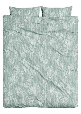 Dekbedovertrekset met palmbladeren van H&M