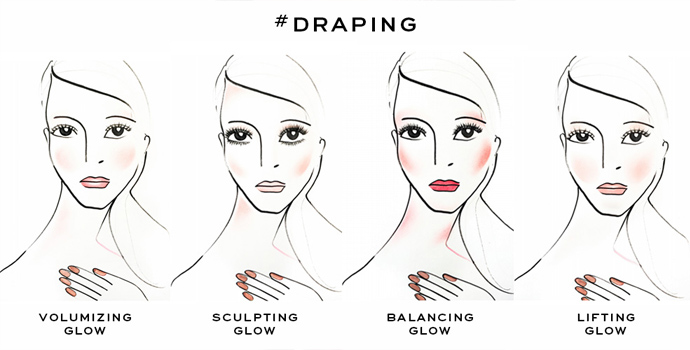 Draping met blush: wat is het en hoe doe je het?