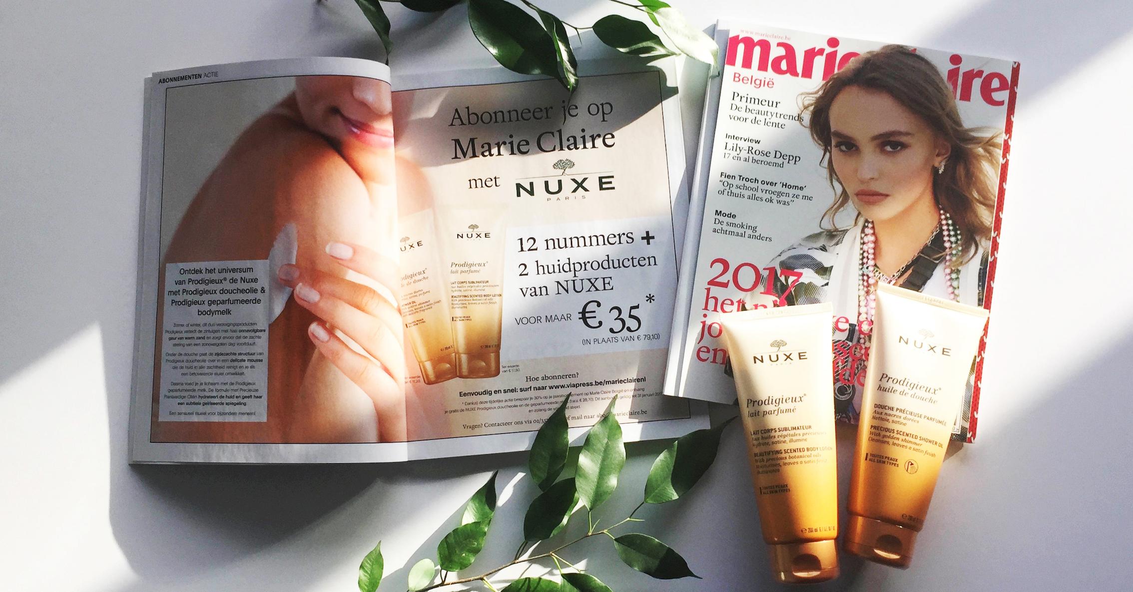 Deze maand jouw marie claire abonnement 2 gratis nuxe for Marie claire belgie