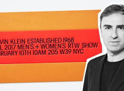 ZIEN: Raf Simons' eerste collectie voor Calvin Klein op NYFW