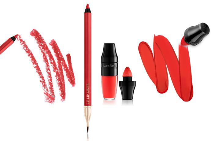 Ombré lippen met de Lip Liner en Matte Shaker van Lancôme