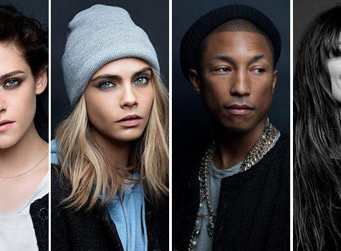Chanel strikt Kristen, Cara, Caroline en Pharrell!