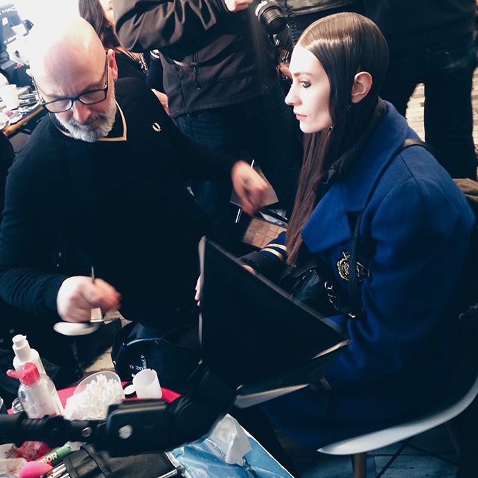 Live paris fashion week backstage beauty s part 2 for Marie claire belgie