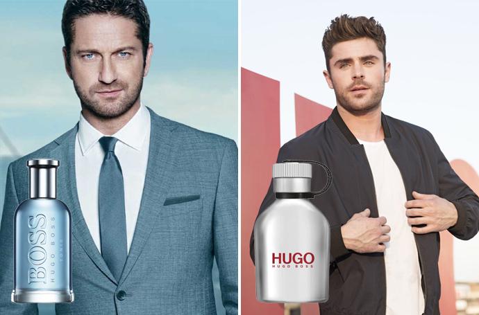 Hugo Boss Bottled Tonic met Gerard Butler en Hugo Iced met Zac Efron