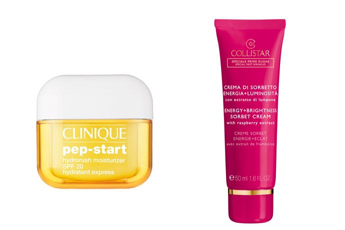 Snelle hydratatie met een dagcrème van bijvoorbeeld Clinique of Collistar