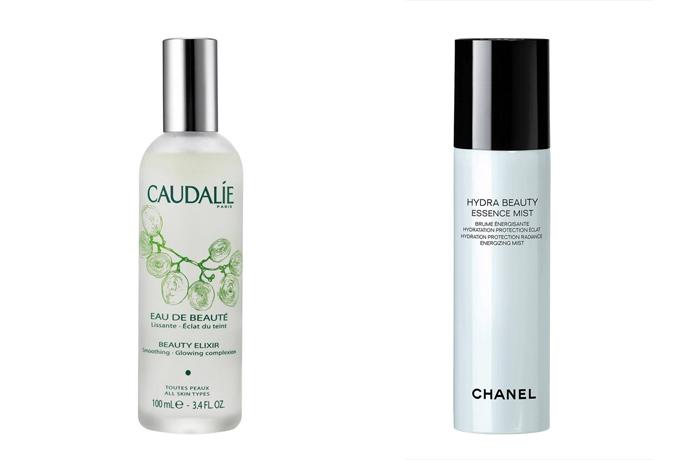 Snelle hydratatie met de skin mist van Caudalie of Chanel