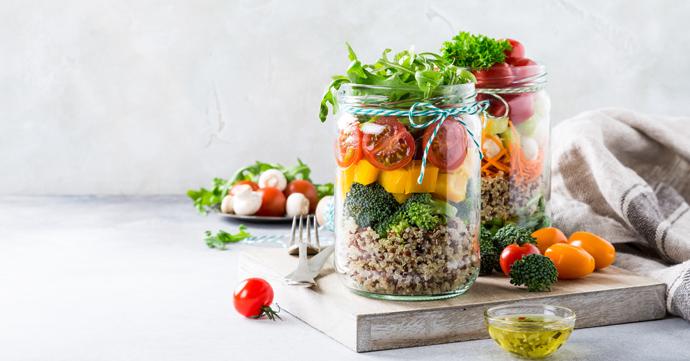 meal prepping gezond eten koken