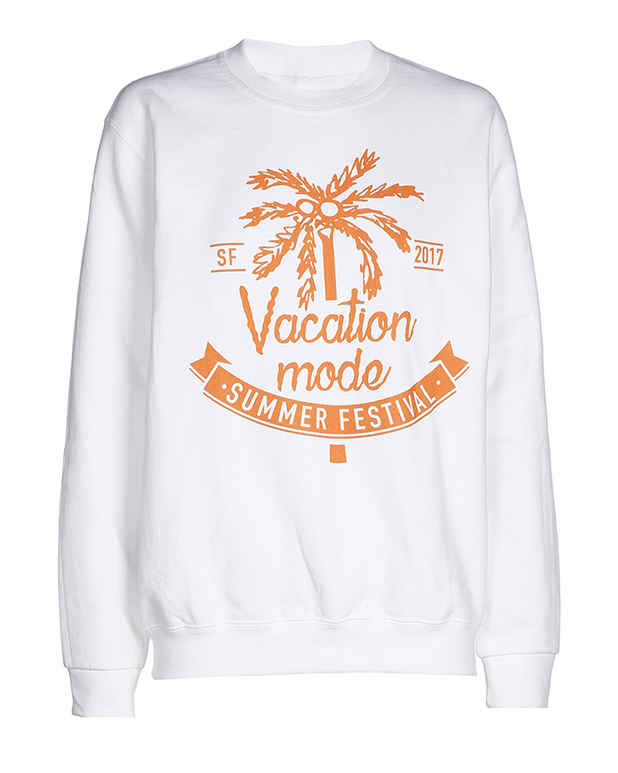 Summerfestival kleding merchandise collectie sweater