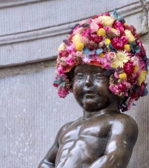 Flowertime zet Brussel (en Manneken Pis) in de bloemetjes
