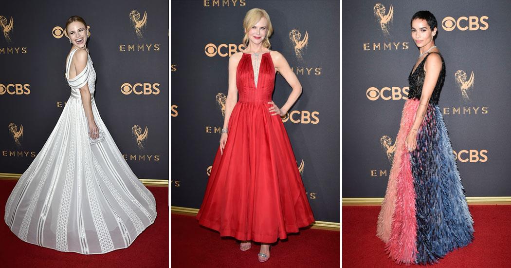 De Mooiste Galajurken.Celebs De Mooiste Jurken Van De Emmy Awards 2017