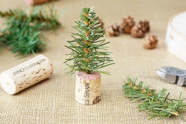 kerstdecoratie maken voor op tafel