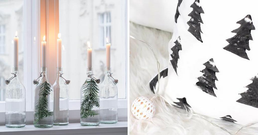Diy kerstdecoratie ideeën om je tafel vensterbank of boom op