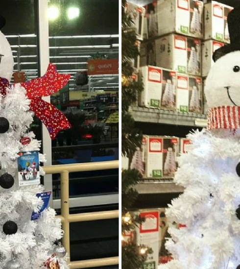 Dé trend deze kerst: de sneeuwman kerstboom