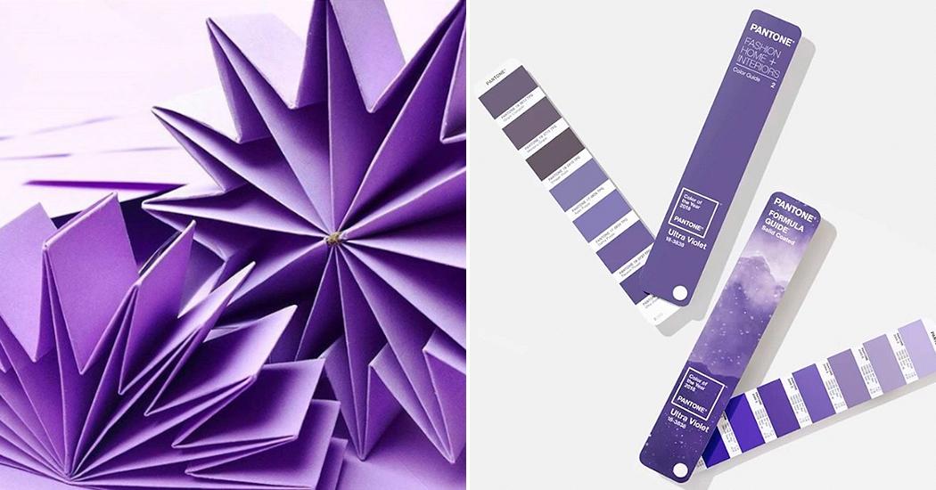 Ultraviolet, de kleur van het jaar 2018 volgens Pantone