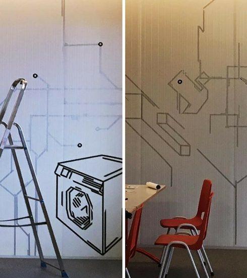 Elke zondag: Een tape-graffiti van Milo Berben