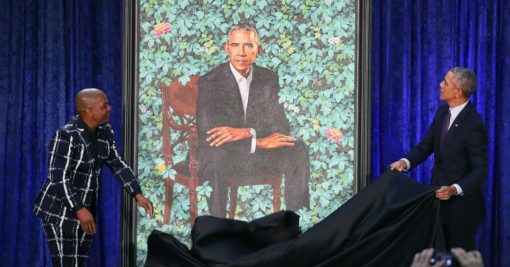 Afro-Amerikaanse schilder zet Obama in de bloemetjes