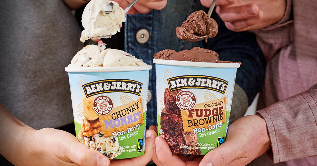 Zuivelvrij Ben & Jerry's ijs nu ook in België verkrijgbaar