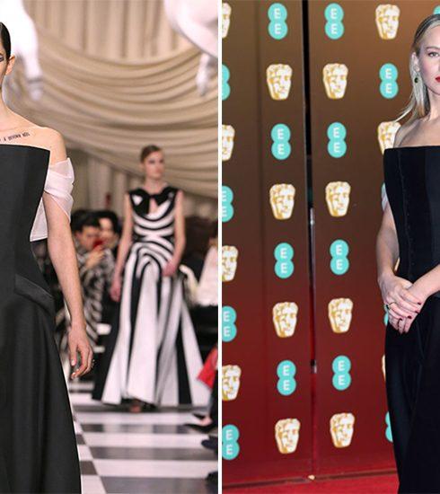 Ontdek alle geheimen van J-Law's BAFTA jurk