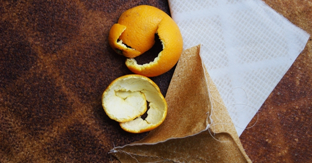 Fashion foodie maakt leer van sinaasappelschillen