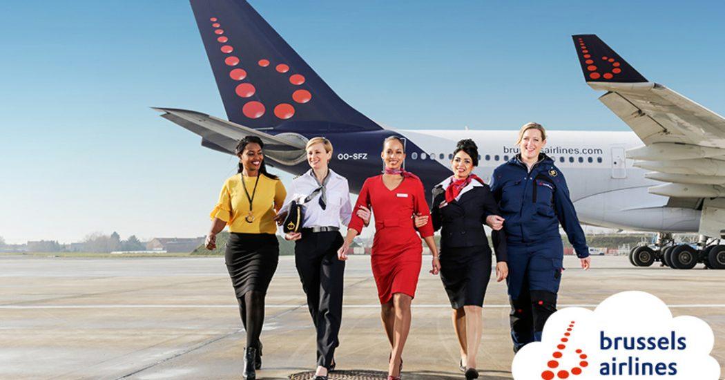 Brussels Airlines vliegt vandaag met volledig vrouwelijke crews
