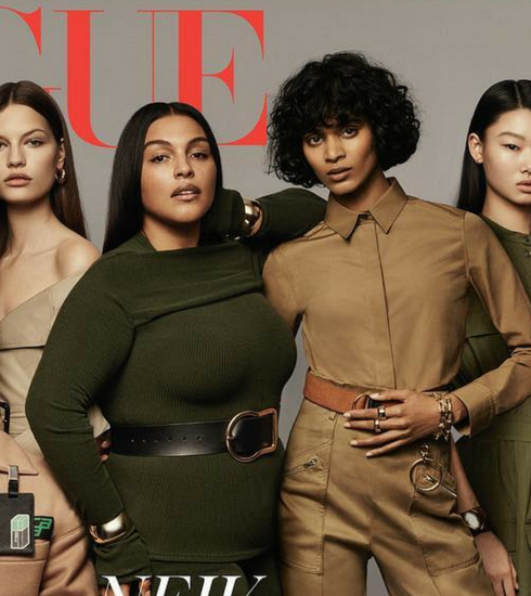 Halima Aden, het eerste gesluierde model, staat op de cover van Vogue UK