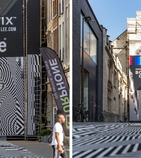 Lee Jeans lanceert nieuwe Body Optix-lijn met grafisch kunstwerk op de Meir