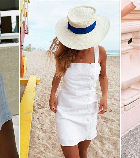 Hoe stijl je een witte jurk, het onmisbare item van de zomer?