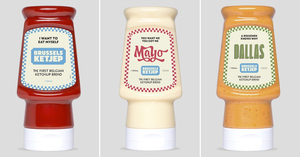 De origineelste ketchups haal je uit de muur
