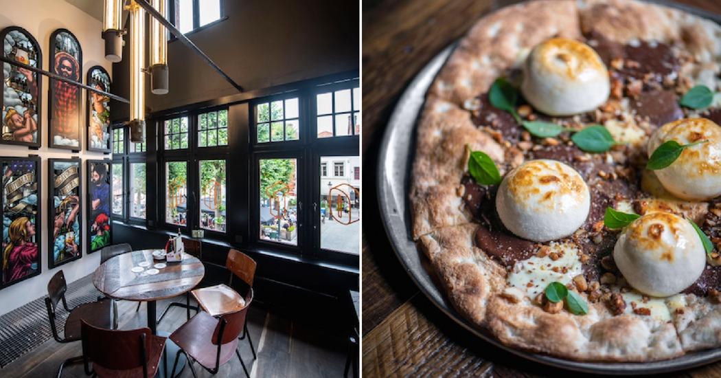 Pizzaparadijs Otomat opent vestiging in Brugge en viert met chocoladepizza