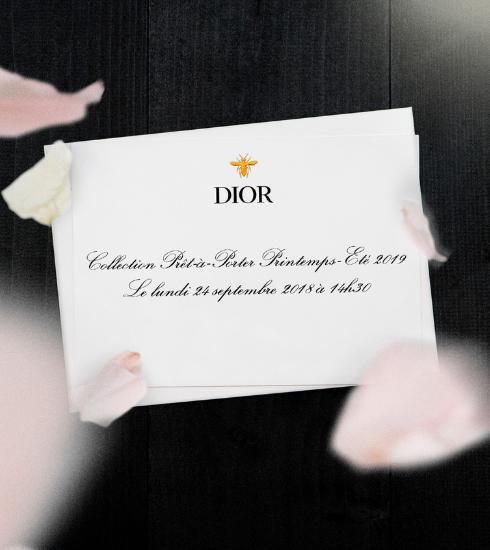Livestream: beleef het Dior SS19 defilé vanop de eerste rij