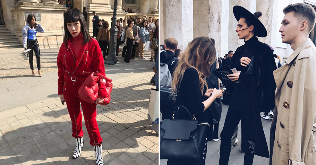 Marie Claire spot de streetstyles bij Paris Fashion Week